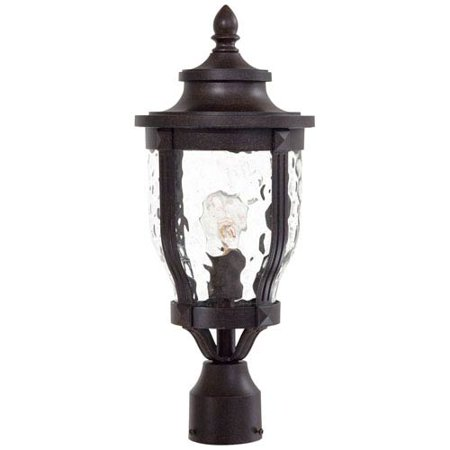 Westcott Bronze One-Light Outdoor Post Mount (Bronze Large Outdoor Post Mount)