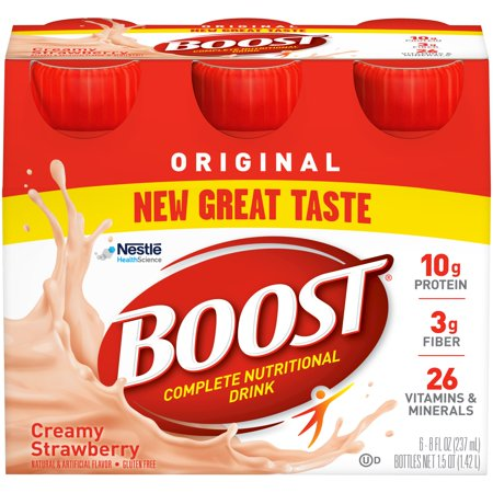Complete Nutritional Supplement (Boost Original Complete Nutritional Drink, Creamy Strawberry, 8 fl oz Bottle, 6 Count )