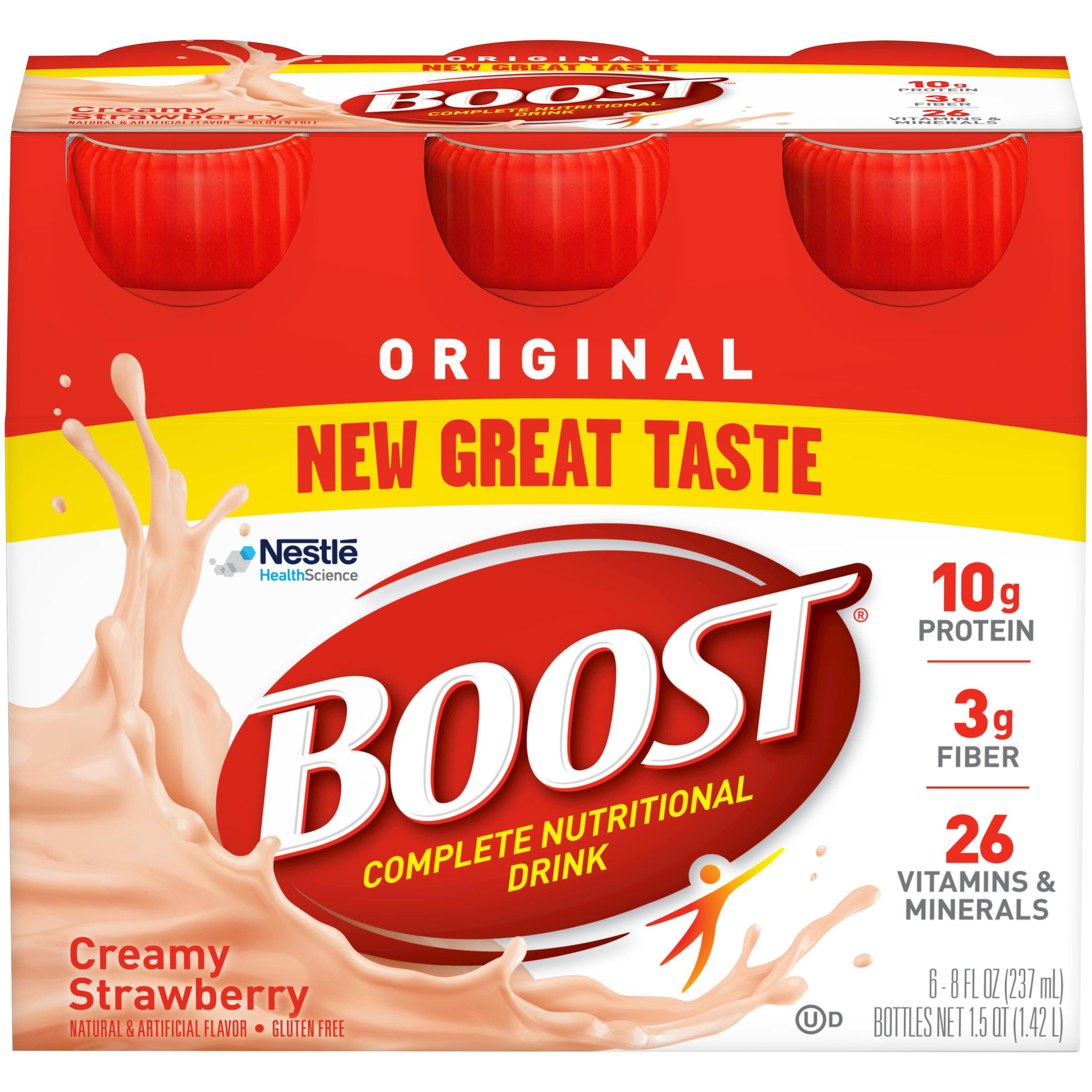 BOOST ORIGINAL Creamy Strawberry 6-8 fl. oz. Bottles