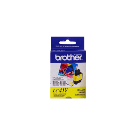 ~Brand New Original BROTHER LC41Y INK / INKJET Cartridge Yellow for Brother MFC-820CW - image 1 de 1