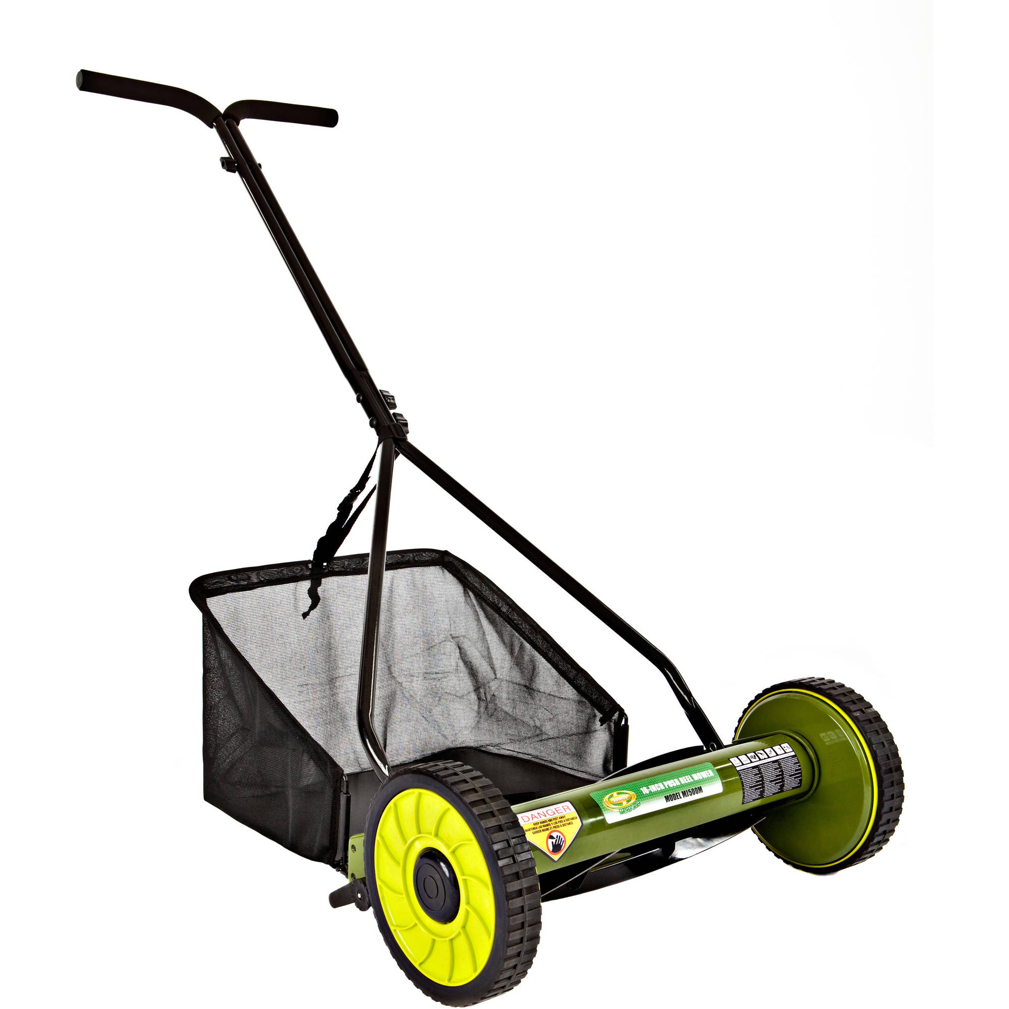 "Sun Joe Mow Joe 16"" Manual Reel Mower w/ Grass Catcher ��� MJ500M"