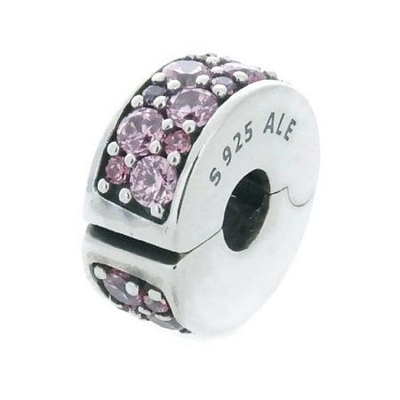 Purple Kids Charm - Authentic Mosaic Shining Elegance Charm, Pink & Purple CZ 791817CZSMX
