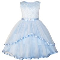 d3fe47d043 Product Image Sunny Fashion Flower Girls Dress Blue Belted Wedding Party  Bridesmaid Size 4-12