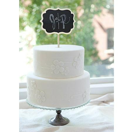 chalkboard cake topper. Black Bedroom Furniture Sets. Home Design Ideas
