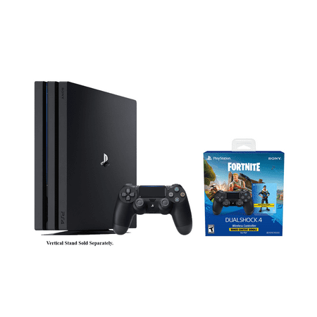 Playstation 4 Fortnite Pro Bundle: Playstation Exclusive Royale Bomber  Outfit, 500 V-Bucks, Playstation 4 Pro TB Console with Extra DUALSHOCK 4