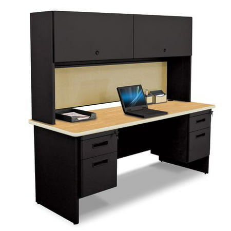 - Marvel Office Furniture Pronto Flipper Door Cabinet And Modesty Panel Computer Desk with Hutch