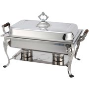 Winware by Winco 408-1 Full Rectangular Crown Chafer, 8-Quart