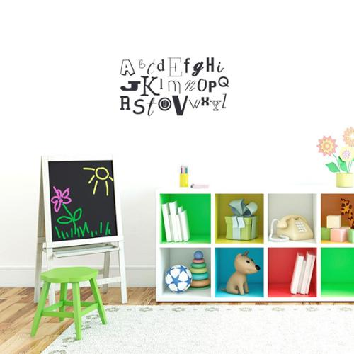 Sweetums Alphabet Kid's 26-inch Wide Wall Decal