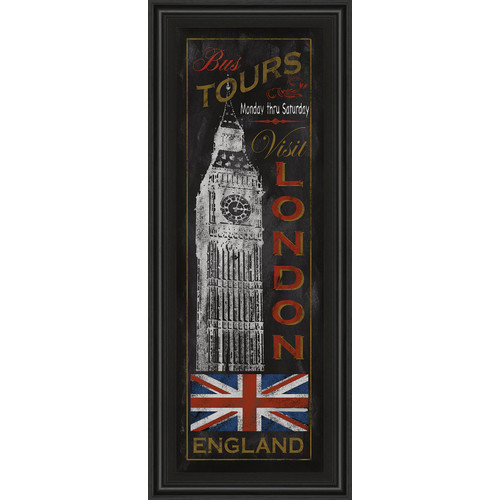 Classy Art Wholesalers London Tours by Conrad Knutsen Framed Graphic Art