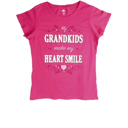 Womens Grandkids Make My Heart Smile Tee Shirt Tank Valentine Holiday T-Shirt