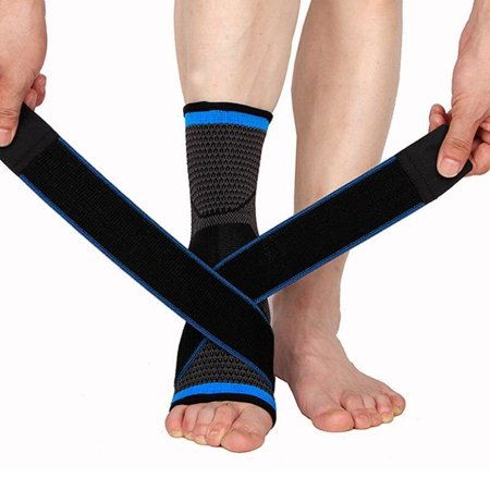 Ankle Sprain Brace Foot Support Bandage Achilles Tendon Band Guard Protector Stabilizing/Heel Spur/Arch Support/Reduce Swelling-Blue (Achimed Achilles Tendon Support)