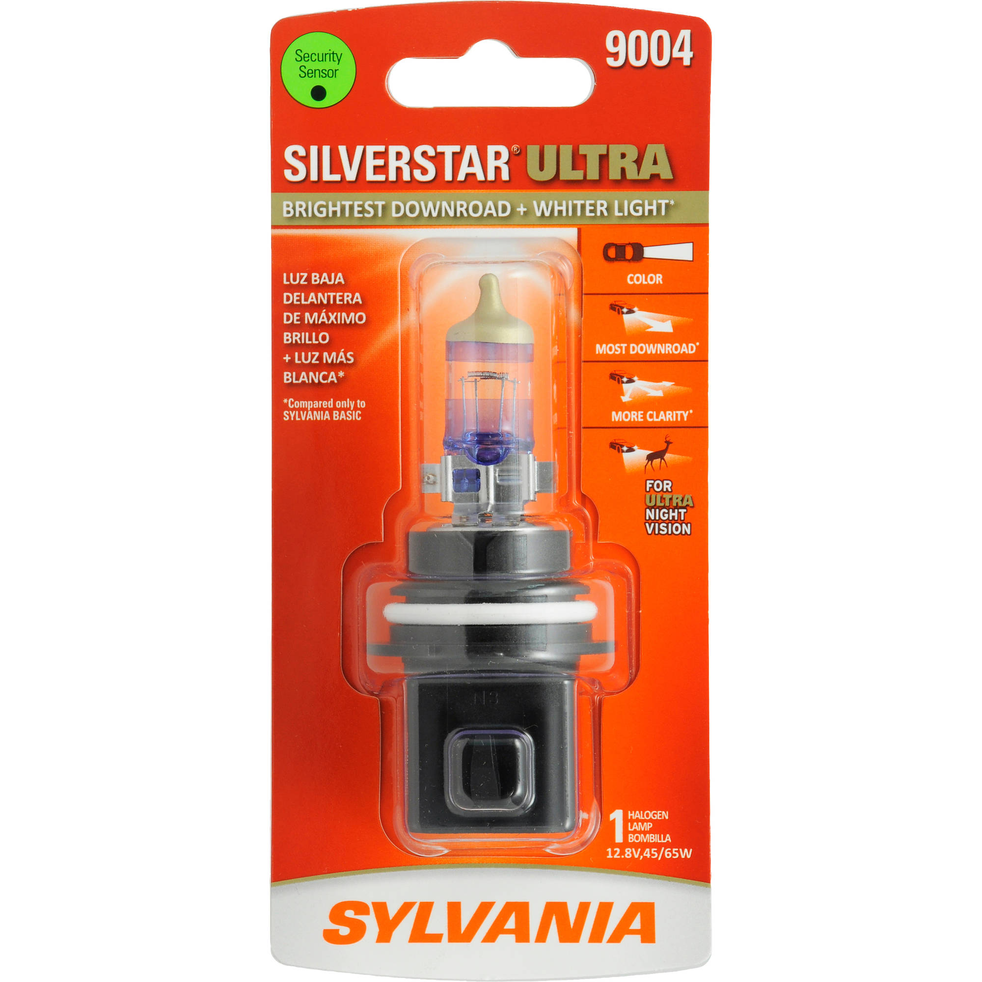 Sylvania 9004 SilverStar ULTRA Headlight, Contains 1 Bulb