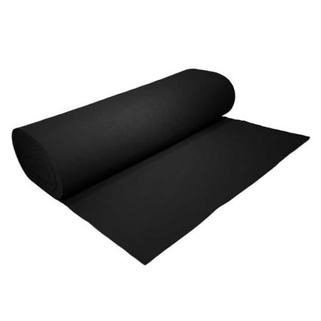 "High Quality Acrylic Felt by the Yard 72"" Wide X 1 YD Long: Black"