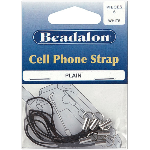 Beadalon Cell Phone Straps, 6-Pack