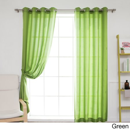 - Best Home Fashion, Inc. Oxford Indoor/Outdoor Curtain Panel (Set of 2)