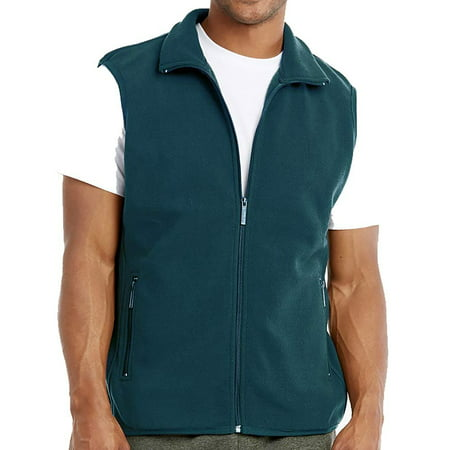 DailyWear Mens Full-Zip Plush Polar Fleece Vest