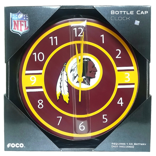 NFL Washington Redskins Bottle cap Wall Clock Team Logo