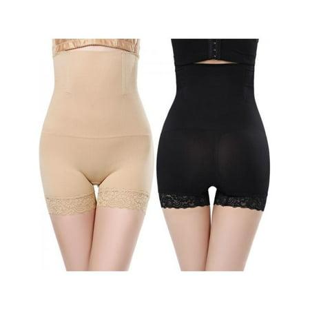 - MarinaVida Women Lace High Waist Body Shaping Hip Shaping Underwear Elastic Anti-going Beam Waist Pants