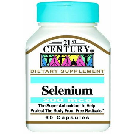 21st Century Selenium 200 mcg Capsules 60 ea
