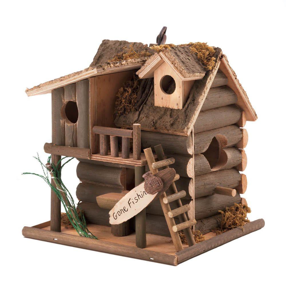 Modern Birdhouse, Cute Wooden Hanging Outdoor Birdhouse by Songbird Valley