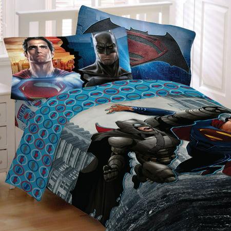 batman vs superman bedding set worlds finest heroes comforter and sheet set. Black Bedroom Furniture Sets. Home Design Ideas