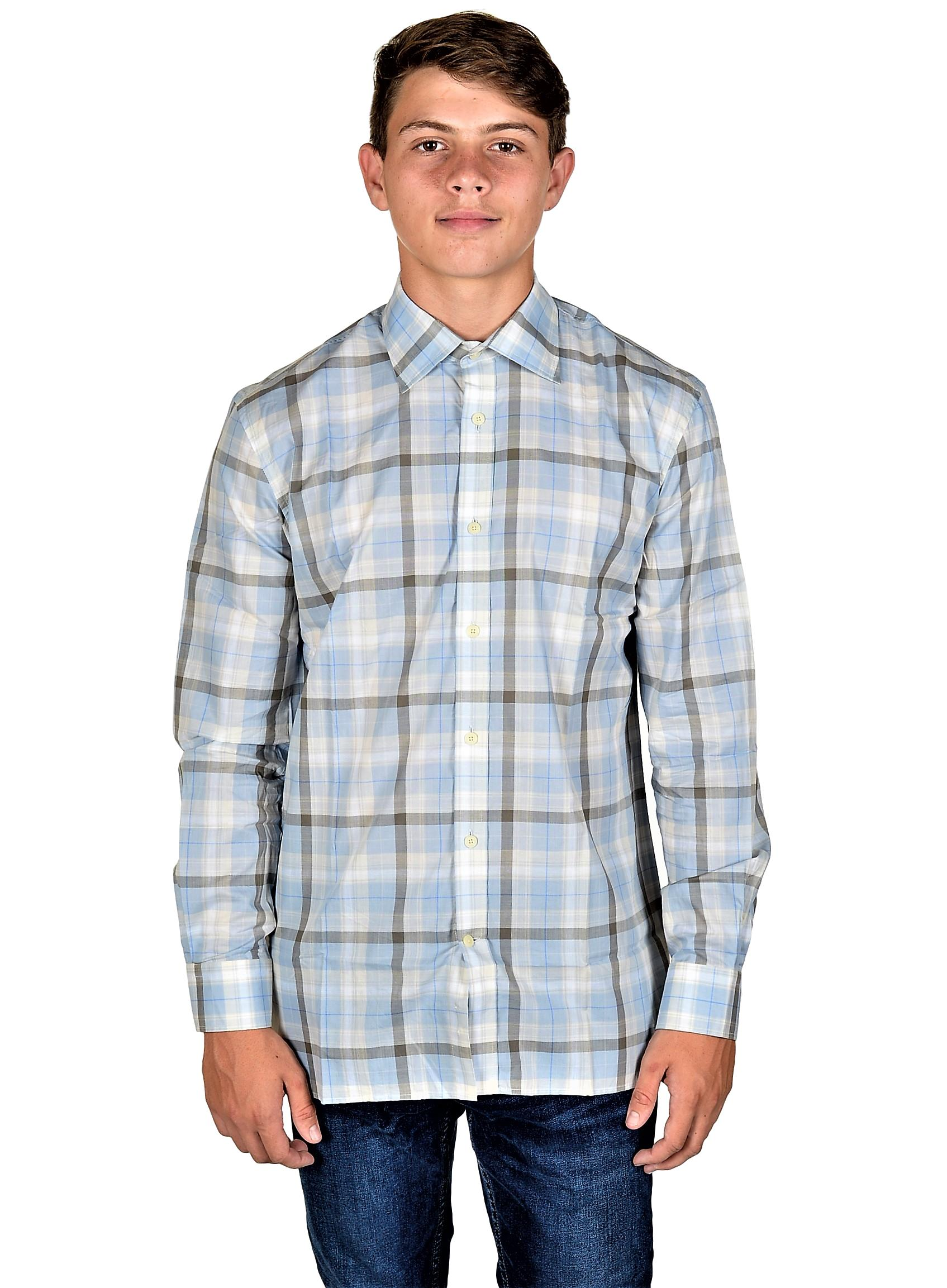 Modern Regular Fit Long Sleeve Shirt Hickey Freeman Men/'s Button Down Shirt