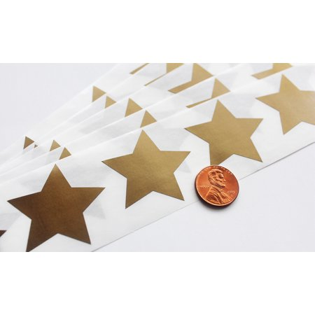 "Scratch Off GOLD Star Label 1.5"" 5 point star scratch-off labels stickers Qty: 100 for schools teachers games & promotions"