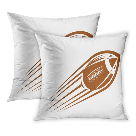 ECCOT American Football Rugby Ball Flying Through The Air at Great Speed Leaving Motion Trail Also As Idea PillowCase Pillow Cover 16x16 inch Set of 2](Football Decoration Ideas)