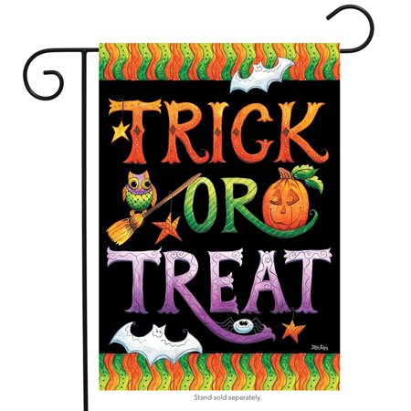 Is Six Flags Open On Halloween (Halloween Trick or Treat Garden Flag Holiday Jack o'Lantern 12.5