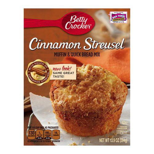 Betty Crocker? Cinnamon Streusel Muffin & Quick Bread Mix 13.9 oz. Box