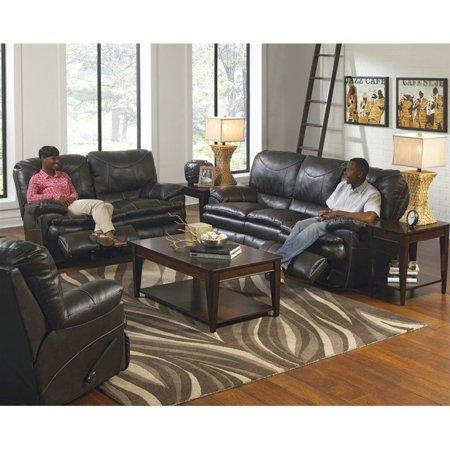 Catnapper Perez 3 Piece Power Reclining Leather Sofa Set in Steel - Walmart.com