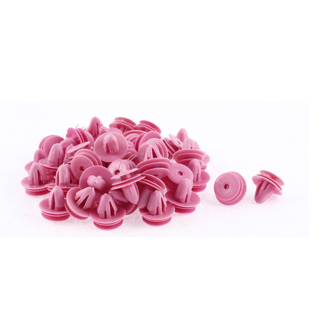 Unique Bargains 50 Pcs 10mm x 7.5mm Hole Fuchsia Plastic Rivets Fastener for Hyundai Elantra