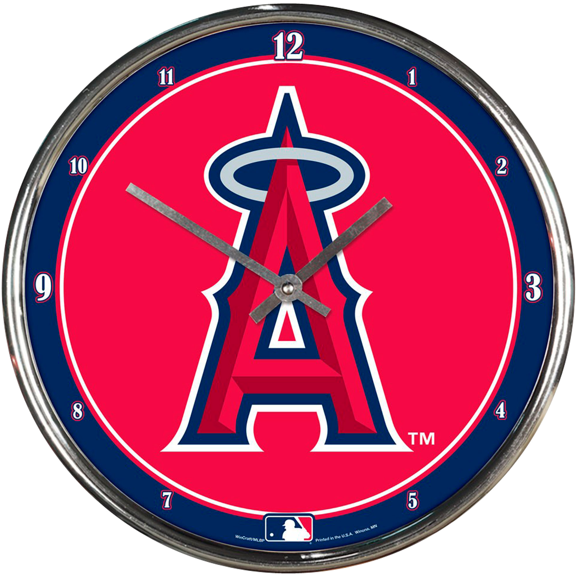 "Los Angeles Angels WinCraft 12"" Baseball Club Chrome Wall Clock - No Size"