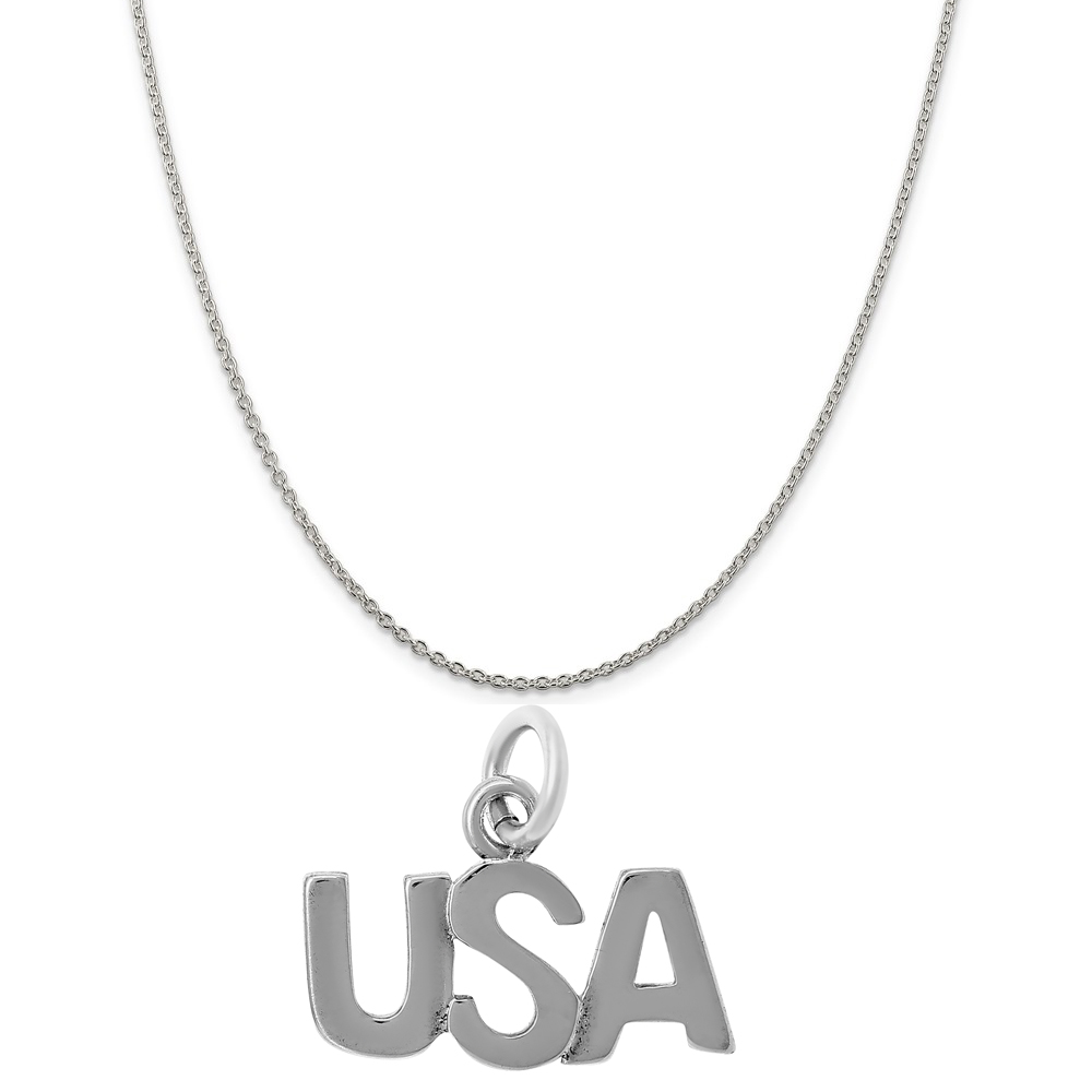 Sterling Silver Large Satin Number 30 on a Sterling Silver Cable Snake or Ball Chain Necklace
