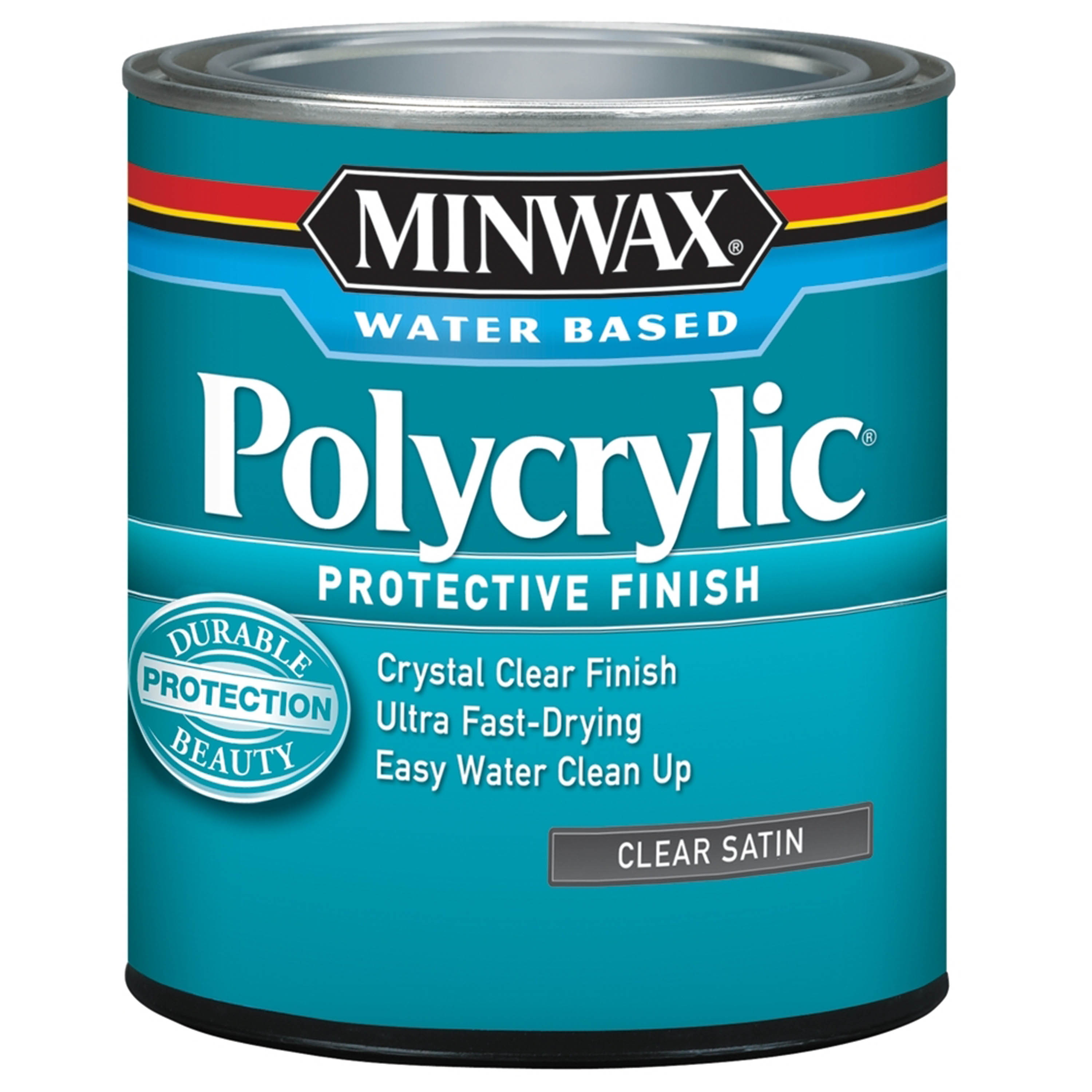 Minwax Polycrylic Clear Satin 1-Qt