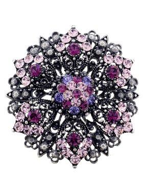 e8ea96a69b0 Product Image Purple Flower Wedding Amethyst Crystal Pin Brooch And Pendant.  Fantasyard