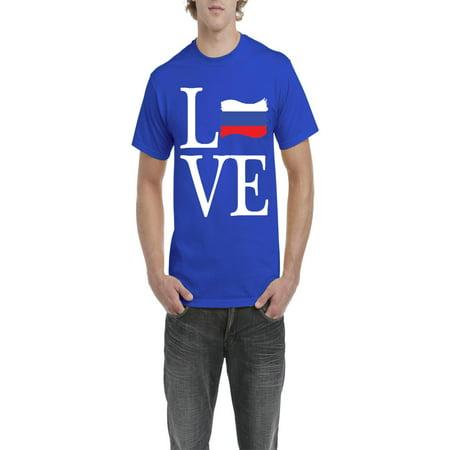 86896b609d3 Love Russia Men Shirts T-Shirt Tee - Walmart.com