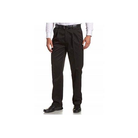 06acf795 Savane Mens Size 32 x 30 Comfort Waist Microfiber Performance Pleated Dress  Pant, Black