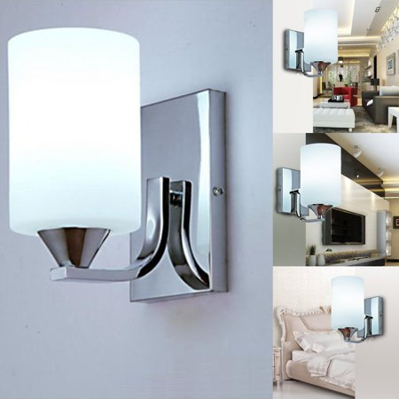 60W LED Modern White Wall Light Glass Silver Fixture Sconce Indoor Lighting Lamp Billiard Sconce Light