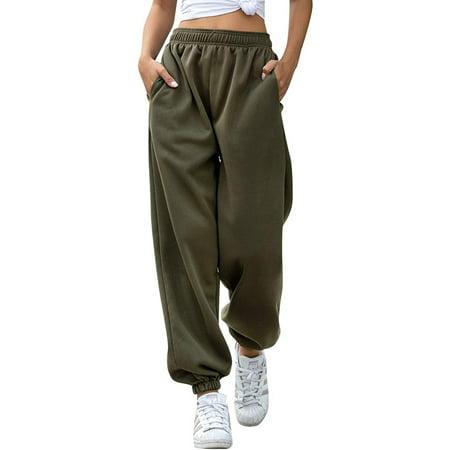 Listenwind Women Ladies Gym Sport Jogger Harem Pants Sweatpants Loose Pants Baggy Solid High Waist Lounge Trousers