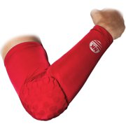 DODOING Honeycomb Crashproof Basketball Arm Sleeve Elbow Pad Guad Support sports Armguards Brace Protector, M L XL XXL, Red
