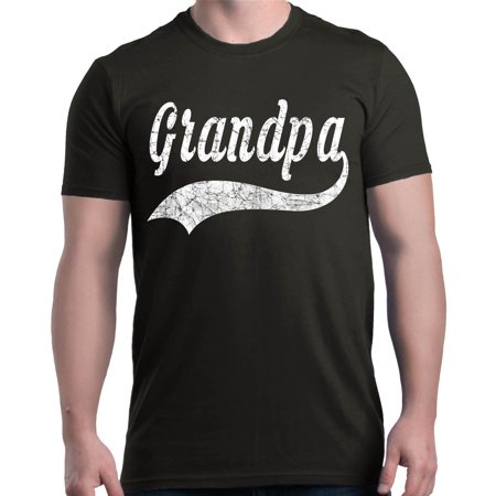 Shop4Ever Men's Grandpa Classic Baseball Father's Day Graphic T-shirt - Father's Day Stuff
