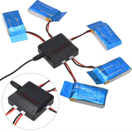 Drone Replacement Spare Parts 5 Battery   1 Usb Charger For Syma X5sw X5sc X5c