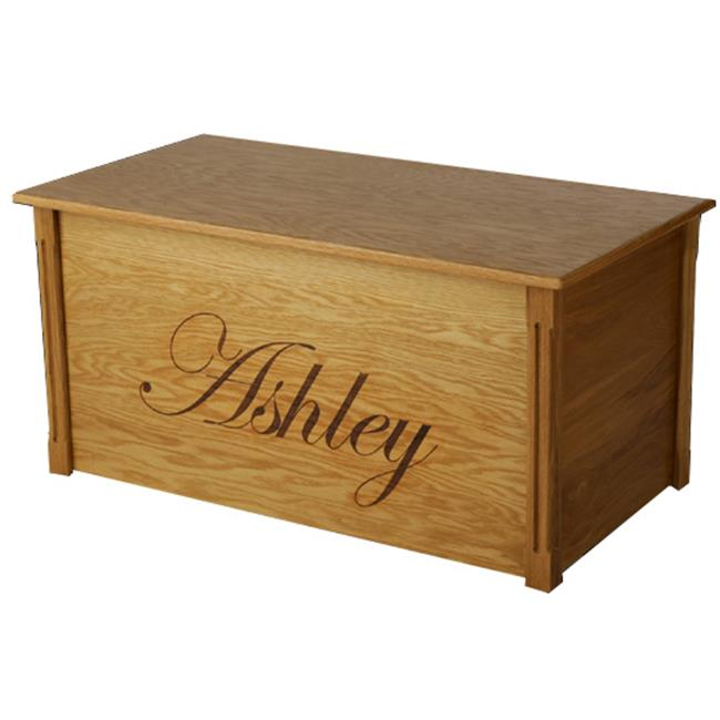 Wood Creations WTB-Edwardian Oak Toybox with Edwardian lettering
