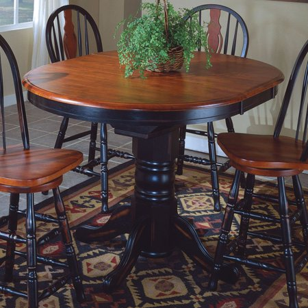 Sunset trading oval cafe counter height dining table with butterfly leaf - Round kitchen table with butterfly leaf ...