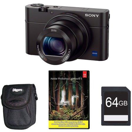 Sony Cyber-shot DSC-RX100 III 20 2MP Black Digital Camera Bundle w/ Adobe  Lightroom