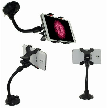 iMeshbean Car Windshield Gooseneck Mount Holder for iPhone4/4s iPhone 5/6 iPod Samsung HTC PSP GPS USA