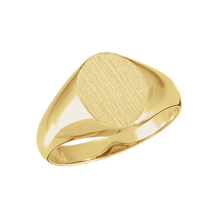 Jewels By Lux 10K Yellow Gold 10x8mm Oval Signet Ring