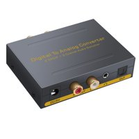ESYNIC DAC 2 Optical SPDIF Toslink 2 Coaxial to L/R RCA 3.5mm Stereo Audio with Optical Switcher