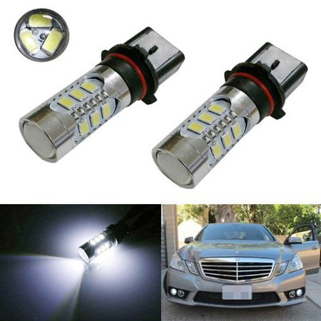 iJDMTOY Error Free 15-SMD SH23W LED Daytime Running Light Bulbs For 2010 to 2011 Mercedes W212 C207 A207 E350 E550, Xenon - Xenon Daytime Running Lights